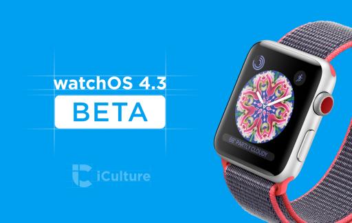 watchOS 4.3 beta nieuw.