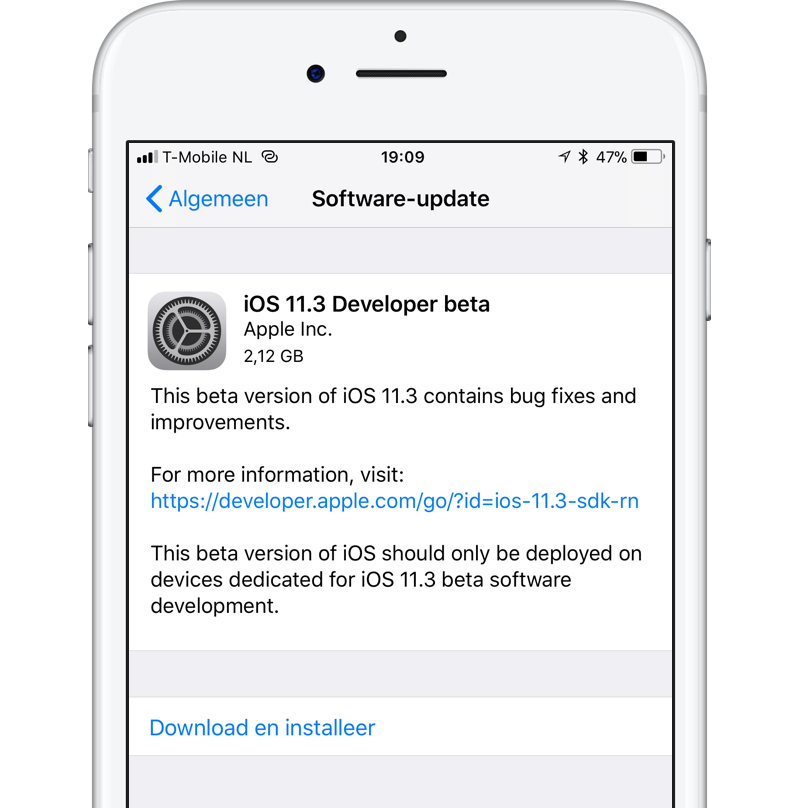 iOS 11.3 beta update