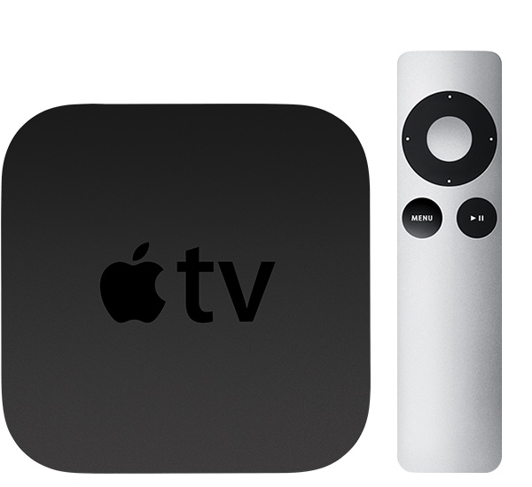 Apple TV 3 met Apple Remote.