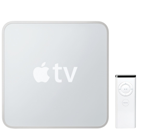 Apple TV 1 met Apple Remote.