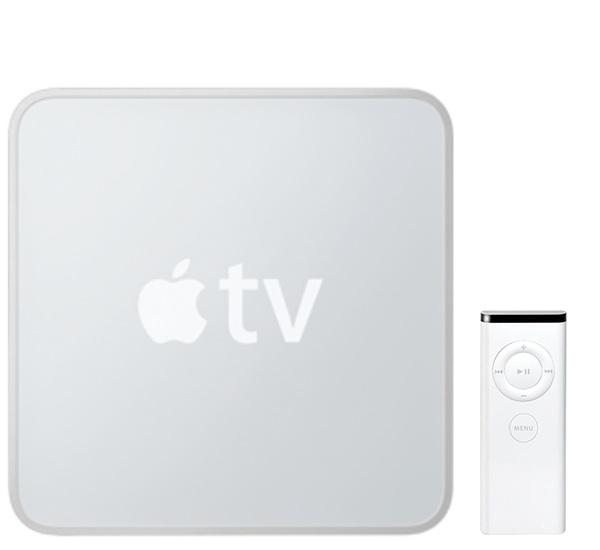 Apple TV 1 met Apple Remote.