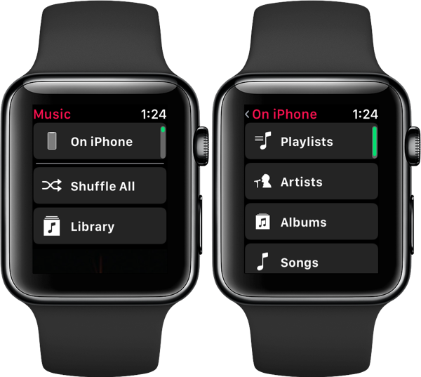 Bladeren door muziek op je iPhone via Apple Watch met watchOS 4.3.