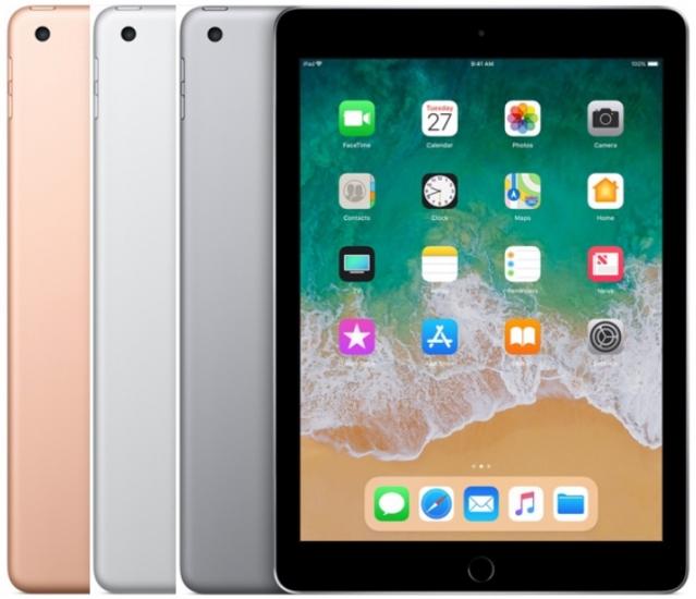 Kleuren van de iPad 2018.