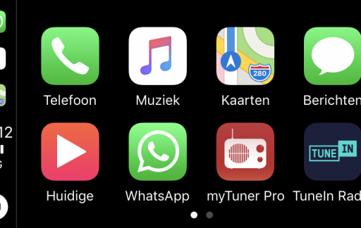 WhatsApp in CarPlay.