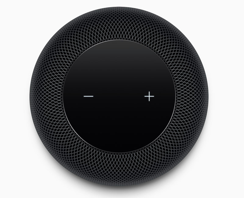 HomePod met volumeknoppen