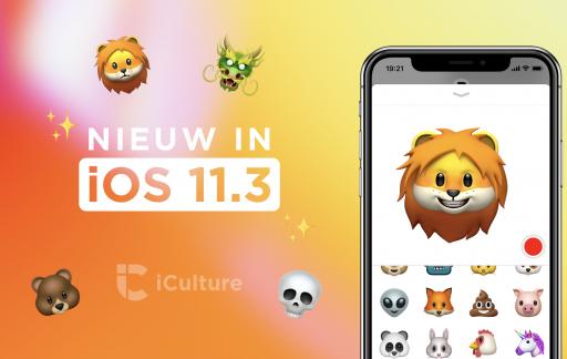 Nieuw in iOS 11.3 met animoji.