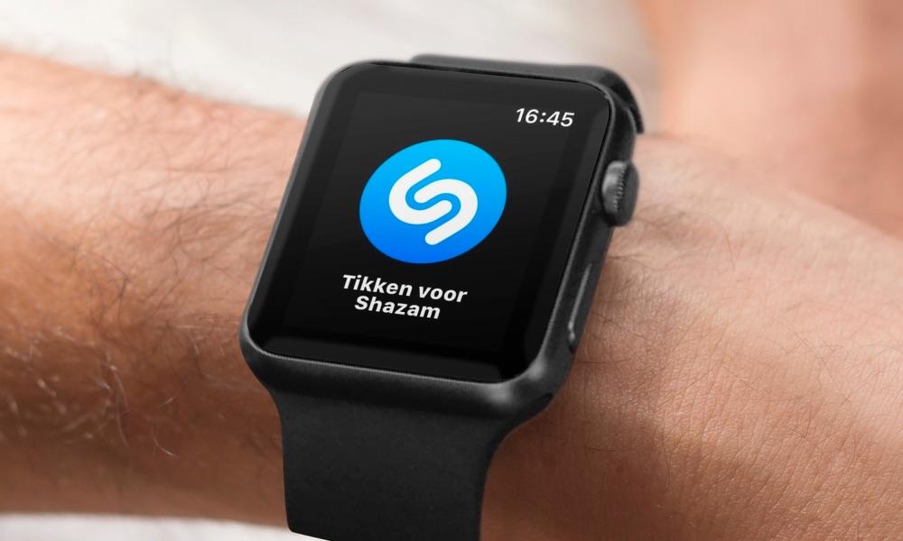 Shazam op de Apple Watch.