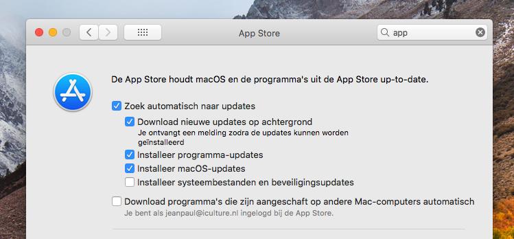 Automatische macOS updates