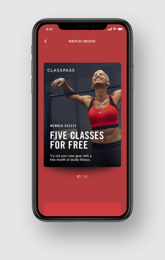 Nike+ app partner ClassPass