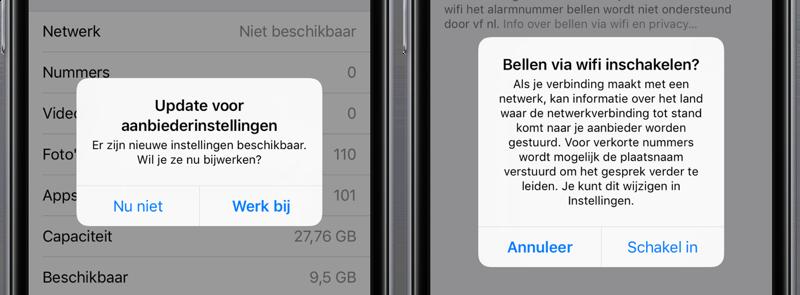 Bellen via Wi-Fi