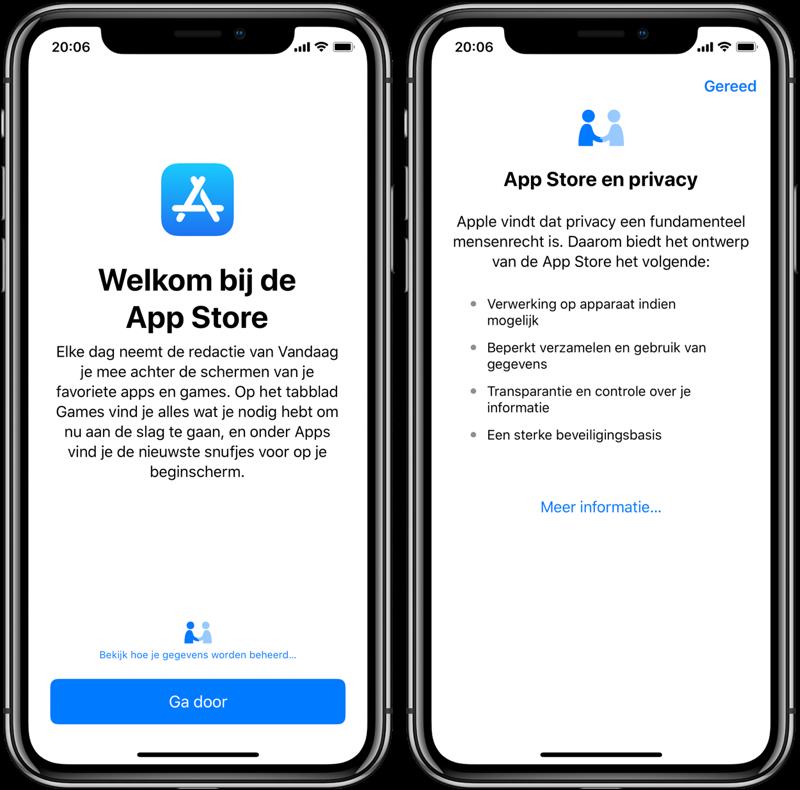 iOS privacy functie