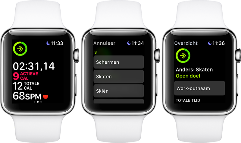 Schaatsworkout Apple Watch
