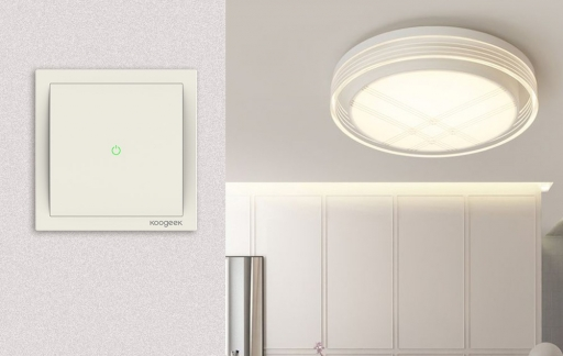 Koogeek Smart Light Switch met lamp.