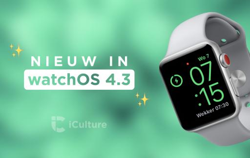 Nieuwe functies in watchOS 4.3.