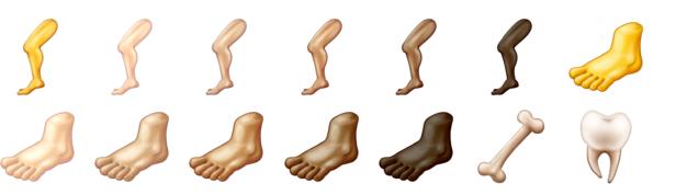 Emoji voeten
