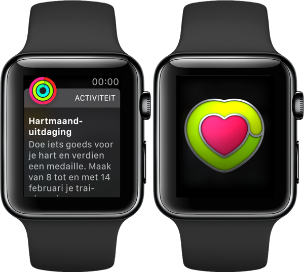 Apple Watch uitdaging voor de Hartmaand.