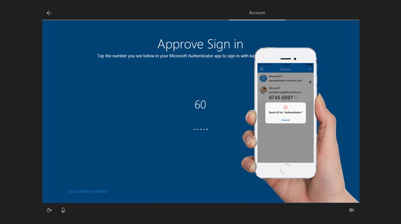 Microsoft Windows 10 S Authenticator-app