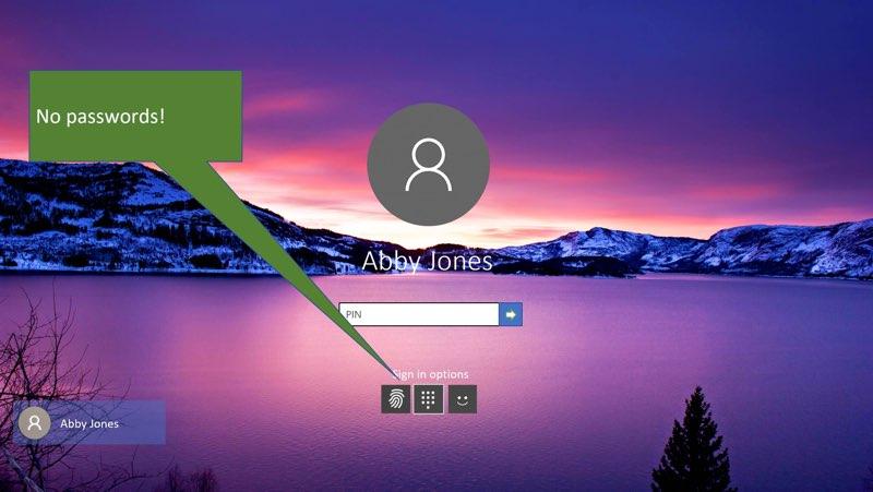 Microsoft 10 S inloggen zonder wachtwoord