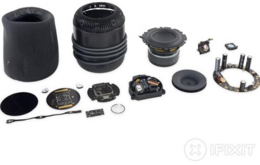 HomePod teardown iFixit onderdelen.