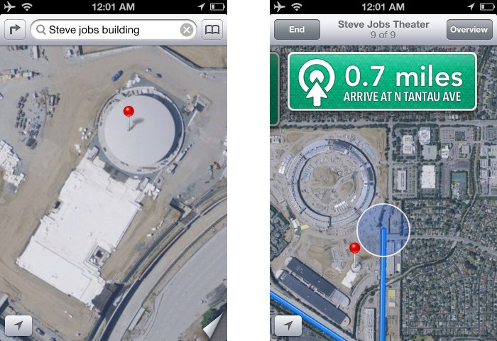 Google Maps op oude iPhone
