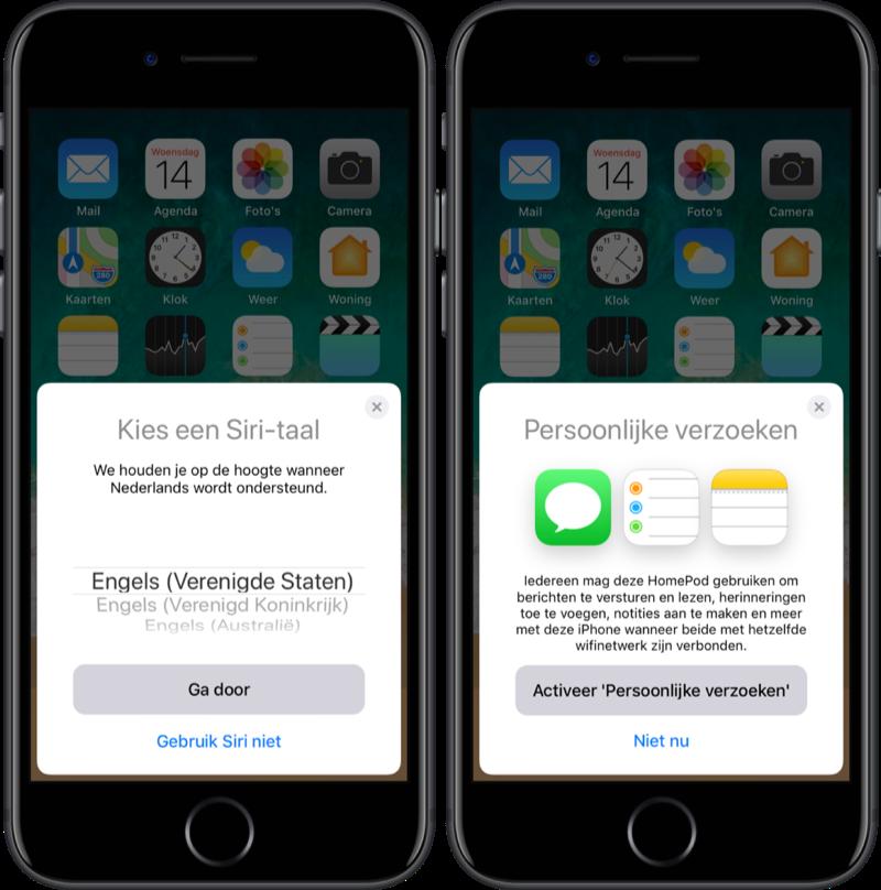 HomePod instellen voor Siri en persoonlijke verzoeken.