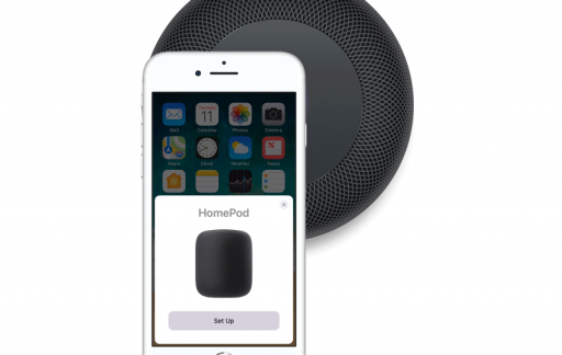 HomePod instellen via iPhone.