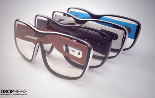 Apple AR-bril concept door iDropNews en Martin Hajek: meerdere varianten