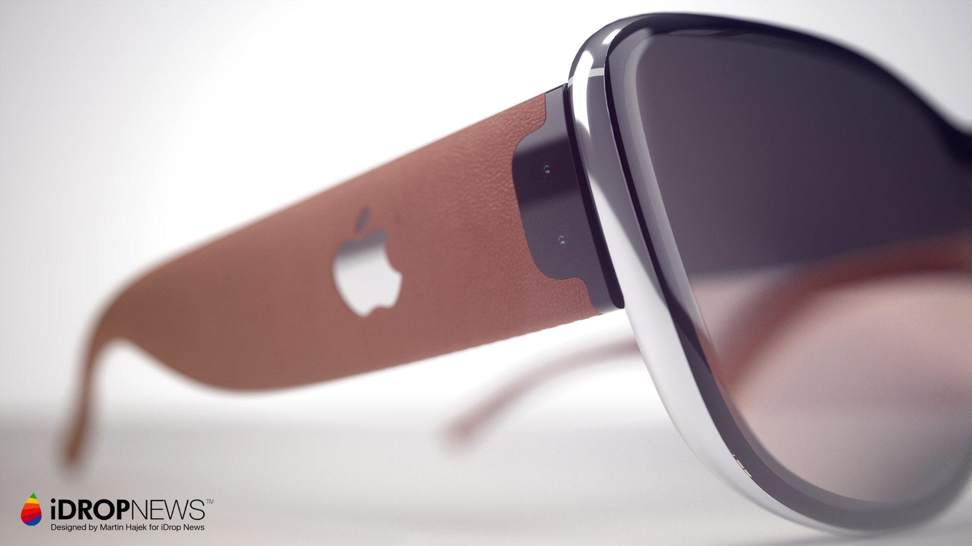 Apple AR-bril concept door iDropNews en Martin Hajek: pootjes met logo