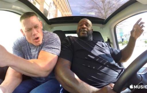 Carpool Karaoke met Shaquille O Neal en John Cena