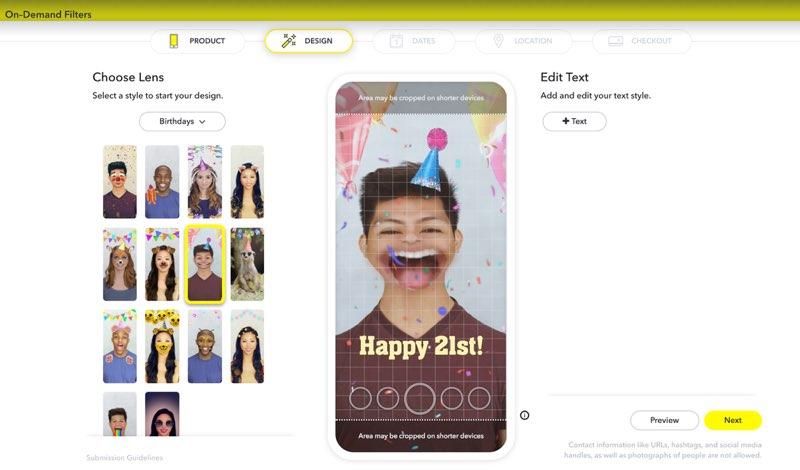 Snapchat-filter maken