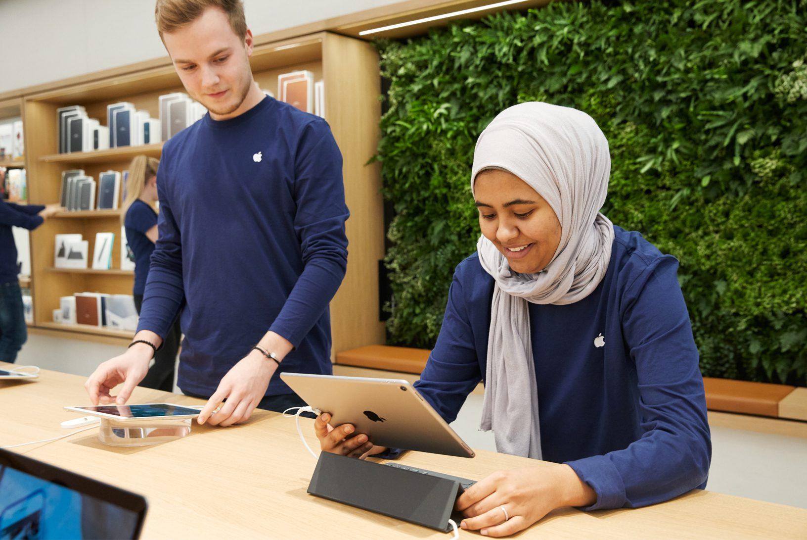 Wenen Apple Store: medewerkers