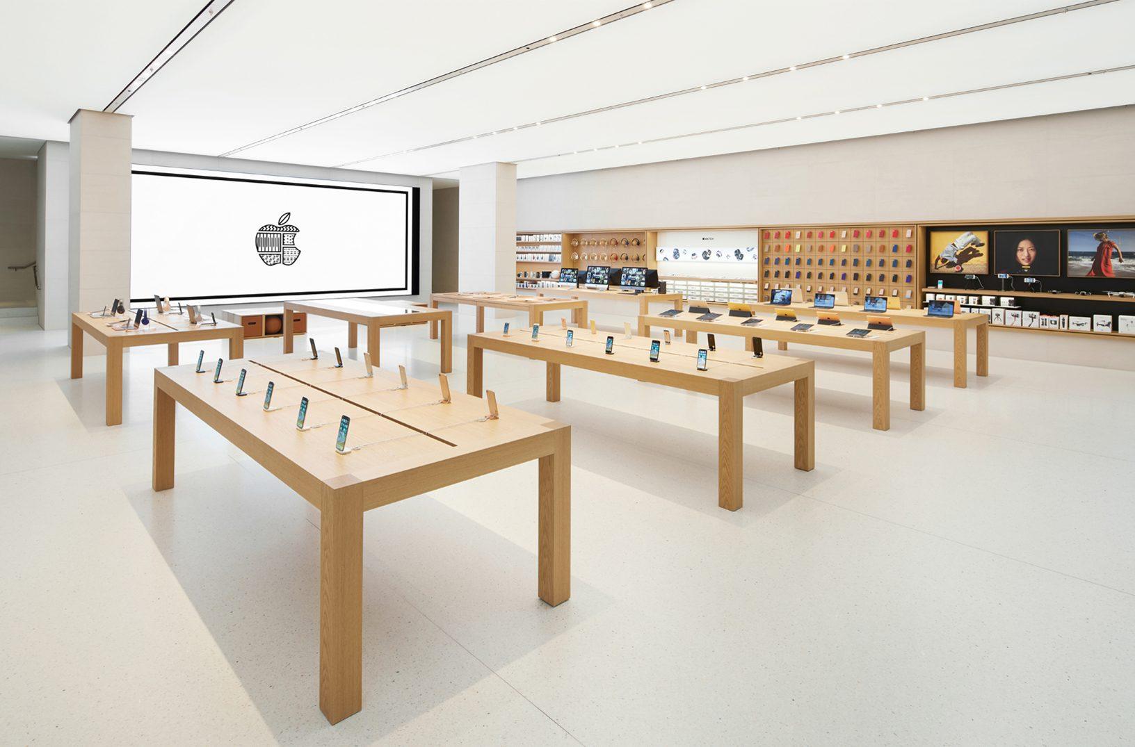 Wenen Apple Store: interieur