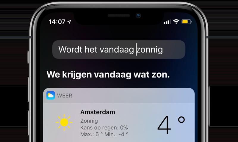 Siri: fout verbeteren