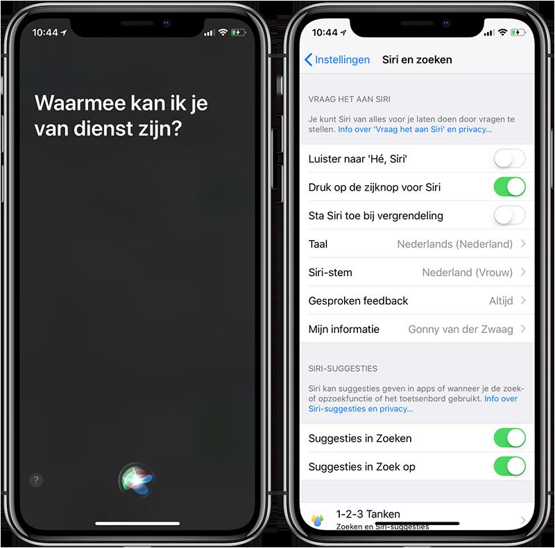 Siri uitschakelen op toegangsscherm