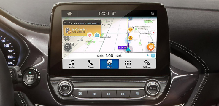 Ford SYNC met Waze.