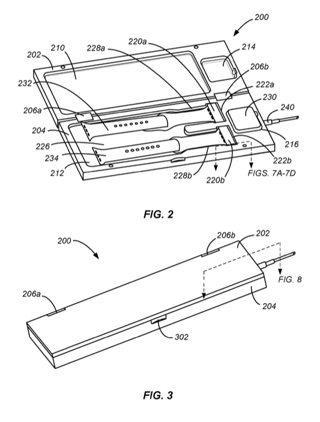 Patent van Apple Watch doosje.
