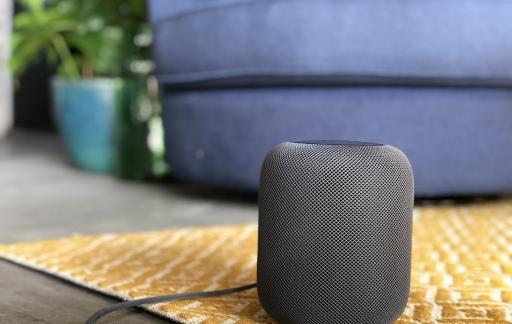 HomePod review: HomePod op een vloerkleed