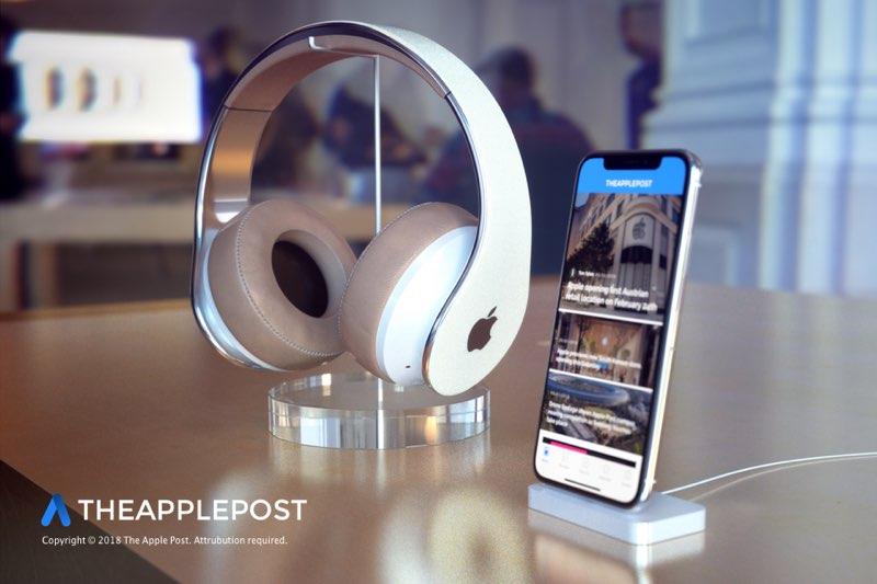 Apple concept van hoofdtelefoon