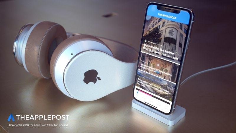 Apple hoofdtelefoon concept