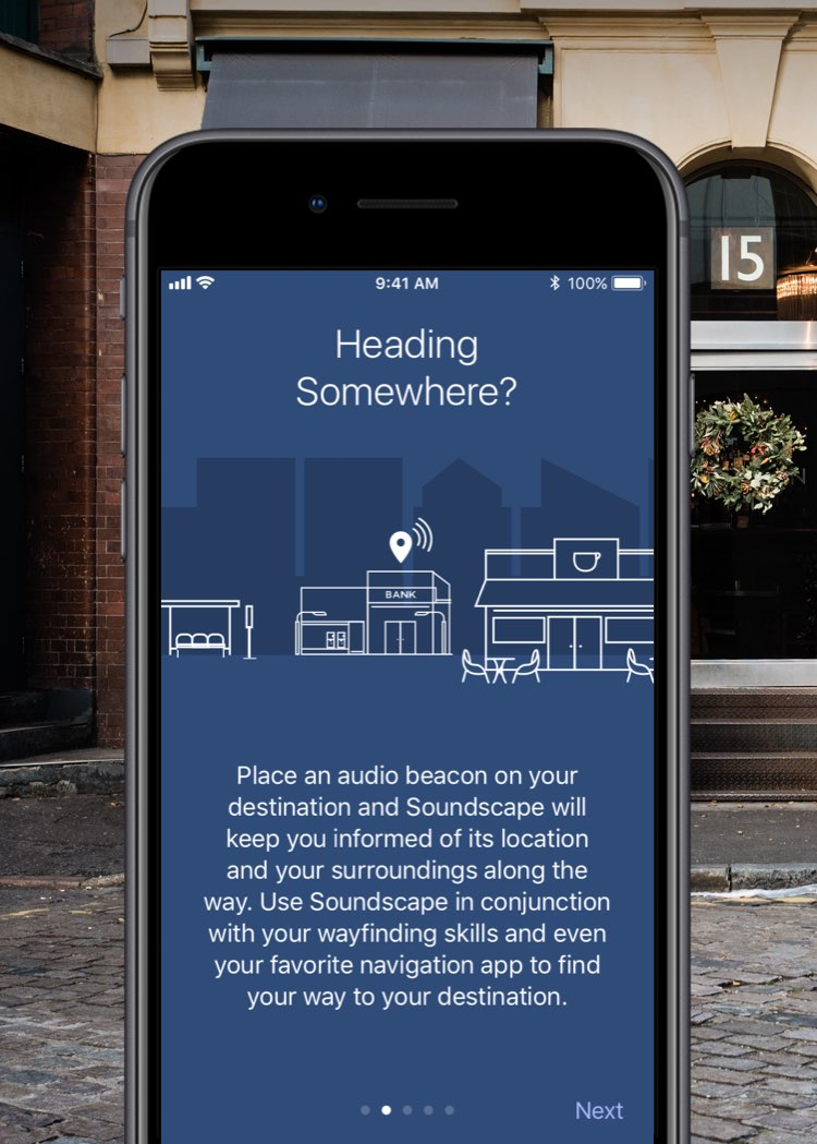 Microsoft Soundscape-app