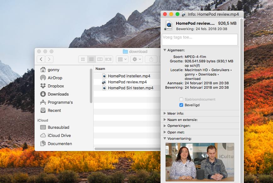 Mac-bestand wijziging voorkomen