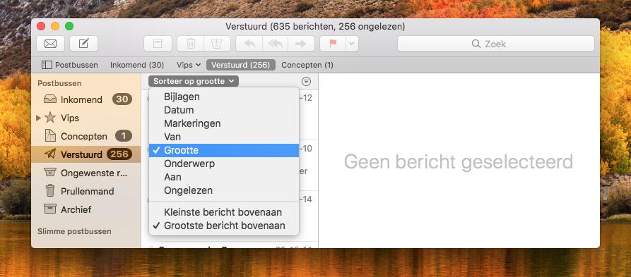 Mail opruimen op de Mac