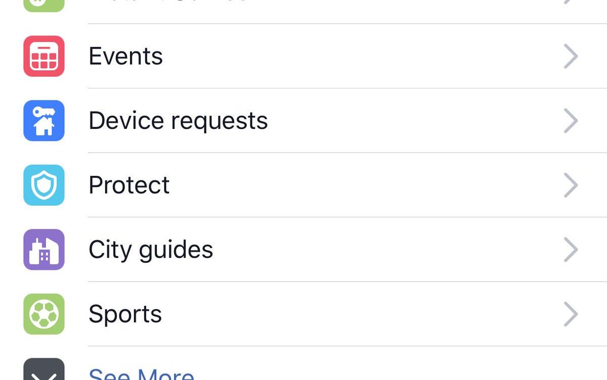 Facebook Protect-optie