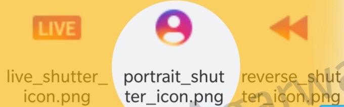 Icoon voor de portretfunctie in Instagram.