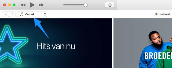 iTunes content wisselen