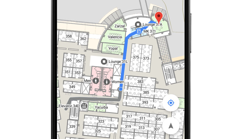 Indoor navigatie met Google Android P