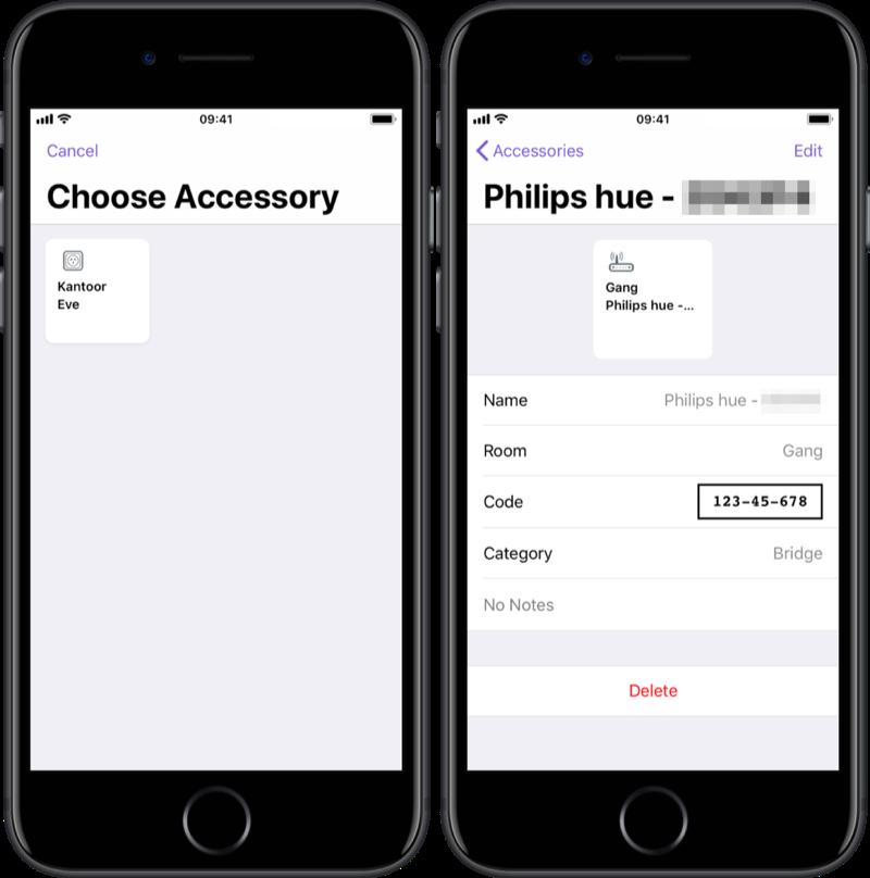 Accessoires en code toevoegen aan HomePass.