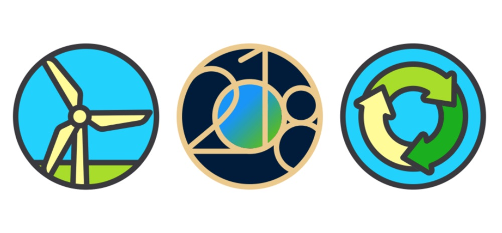 Stickers voor Earth Day uitdaging op de Apple Watch.