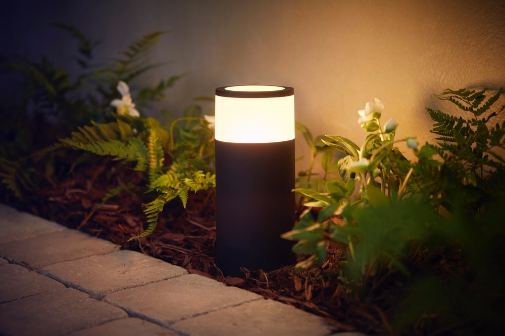 Philips Hue outdoor Calla tuinverlichting.