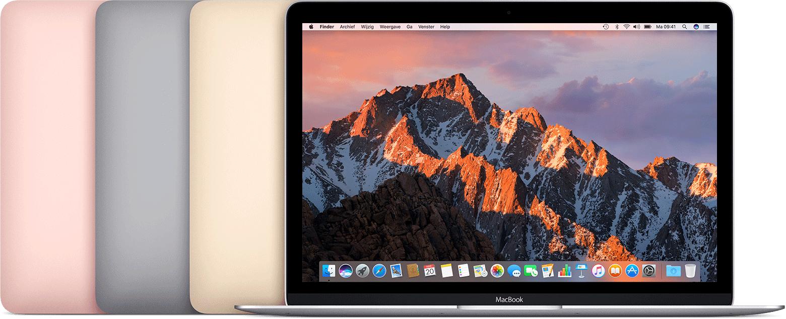 MacBook 12-inch in meerdere kleuren.
